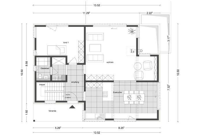 architektenhaus mit flachdach jetzthaus das massivhaus mit system. Black Bedroom Furniture Sets. Home Design Ideas