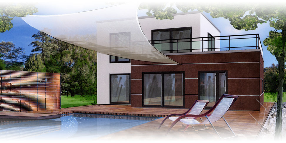massivhaus mit flachdach beipielplanung 2 jetzthaus. Black Bedroom Furniture Sets. Home Design Ideas